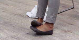 Wspomaganie palców stóp, opadająca stopa rys.1